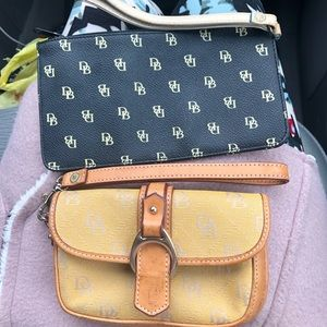 Bundle of two Dooney and Bourke wristlet bags